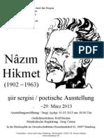 Nazim Hikmet Poetische Ausstellung 2013 DGB HH