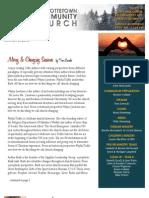 March 3 2013 Newsletter