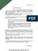 Mensaje del Padre Marcel Blanchet - Marzo 2013 - Bélgica Centro Internacional de las Pequeñas Almas