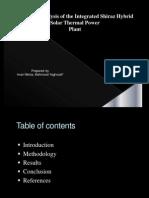 Presentation on shiraz plant