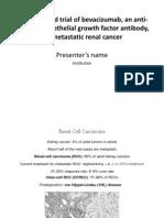 Bevacizumab Presentation (Venue-scientific Conference)