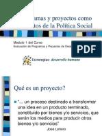 Proyectos Como Instrumentos Politica Social