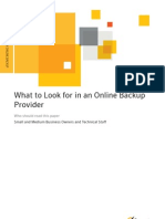 What to Look for in an Online Backup Provider