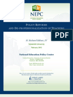 h. Richard Milner [Nepc] 2013_policy Reforms and de-professionalization of Teaching [February]