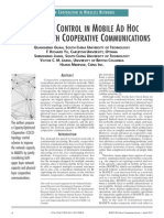 Topology Control in Mobile Adhoc Netwroks