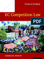 Giorgio Monti EC Competition Law Law in Conte