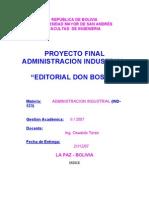 Proyecto Editorial Don Bosco
