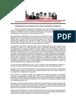Solidaridad activa y permanente con los Vecinos damnificados en Valparaíso