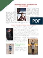 Costumul popular românesc cucereşte moda internaţională
