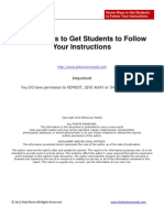 Seven Ways to Get Students to Follow Your Instructions