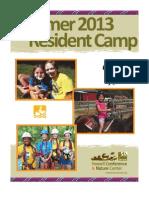 Resident Camp Brochure 2013