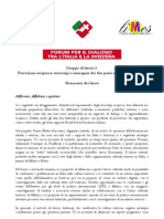 Forum Italia-Svizzera Percezione reciproca