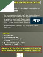 DISEÑO DE AMPLIFICADORES CON TBJ.ppt