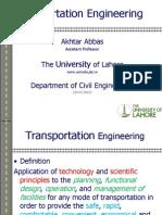 Transportation Lecture 2 (19!02!2013)