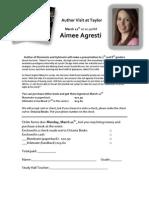 Aimee Agresti Order Sheet for Books