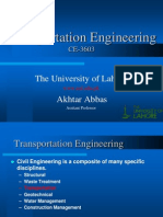 Transportation Engineering_Lecture -1
