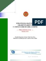 Strategija Razvoja Gradjevinarstva u Crnoj Gori Do 2020. Godine