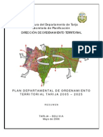 Resumen Plan de Uso de Suelo Del PDOT Tarija 2006 - 2025