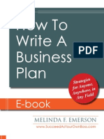 How to Write a Business Plan 2