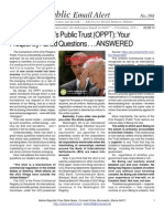 398 - The One People's Public Trust (OPPT) Your Frequently Asked Questions . . . ANSWERED