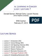 Lecture 7 (D. Geman)