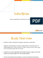 Toplines of India Bytes - A Computer Usage & Brand Study by JuxtConsult