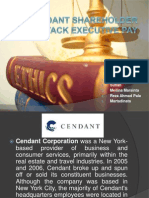 Cendant Shareholder Attack Executive Pay