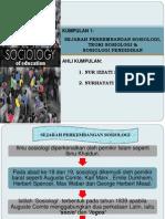 Sejarah Perkembangan Sosiologi,Teori Sosiologi Dan Sosiologi Pendidikan