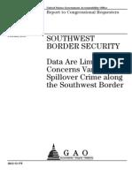 GAO-Border Crime Study