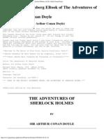 The Adventures of Sherlock Holmes, By Sir Arthur Conan Doyle