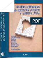 Politicas de Educacion Superior en America Latina 1993 Hernan Courard Ed
