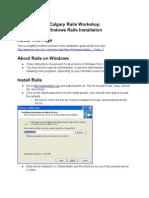 Windows Installation RoR