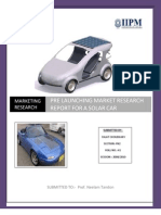 18020760 Marketing Reserach Solar Car Project