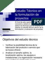 4. Estudio Tecnico en La Formulacion de Proyectos[1]