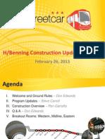 2 26 13 H Benning Construction Update Meeting Final