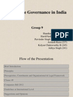 Corporate Goverance in India