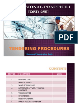 Microsoft PowerPoint - Chapter 7 - Tendering Procedures ppt