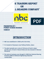 Summer Traning Report on National Bearing Company
