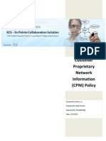 ECS Customer Proprietary Network Information Policy v1-1
