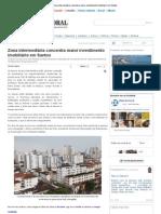Zona intermediária concentra maior investimento imobiliário em Santos