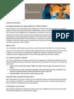 Pet Travel FAQ - Byford Quarantine Facility Arrivals Through 5/13