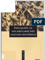 Vilar Pierre - Iniciacion Al Analisis Del Vocabulario Historico