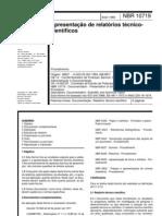ABNT_NBR10719-Apresentação de relatórios técnico-científicos