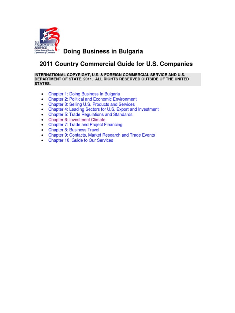 Doing business in Bulgaria | Intellectual Property | Bulgaria