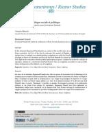 Reconnaissance, Critique Sociale Et Politique