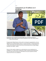 27-02-2013 Diario cambio - Entrega RMV equipamiento por 52 millones en el Complejo Médico del Sur