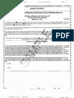 Jones, Monroe County sample ballots