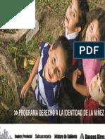 Programa Derecho a la Identidad de la Niñez