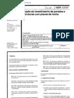 NBR 13707 - Projeto de Revestimento de Paredes e Estruturas