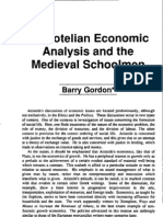 Barry Gordon Aristotelian Economic Analysis and the Medieval Schoolmen